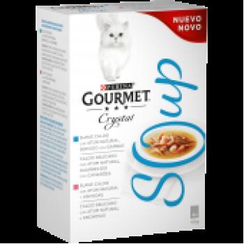 Gourmet Cristal Soup Atum c/ Camarões e Atum c/ Anchovas Multipack 4x40gr