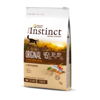 Instinct Original Cat Adult Sterilized 7kg Salmão
